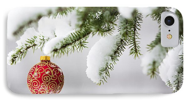 Christmas Ornament In The Snow IPhone Case