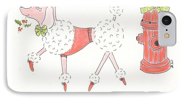 Christmas Poodle IPhone Case