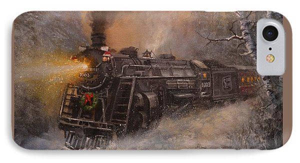 Christmas Train In Wisconsin IPhone Case
