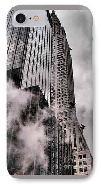 Chrysler Building With Gargoyles And Steam IPhone Case