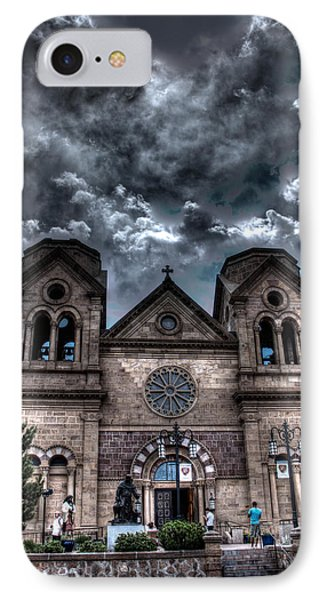 Church Under An Angry Sky IPhone Case