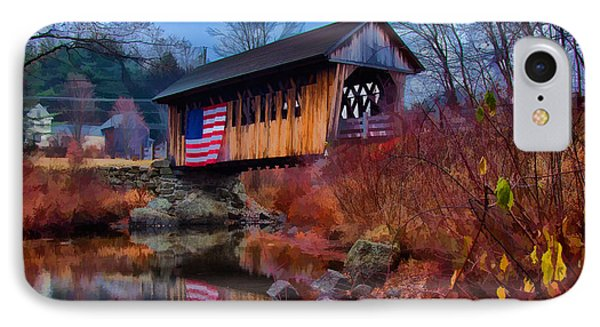 Cilleyville Covered Bridge IPhone Case