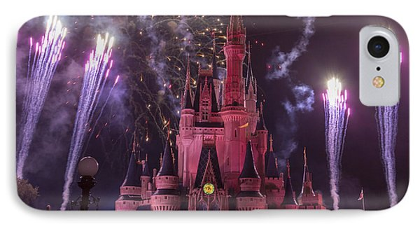Cinderella's Castle With Fireworks IPhone Case