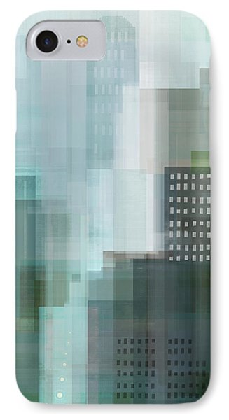 City Scenes iPhone 8 Case - City Emerald by Dan Meneely