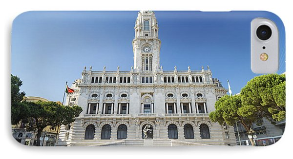 City Hall In Porto Portugal IPhone Case