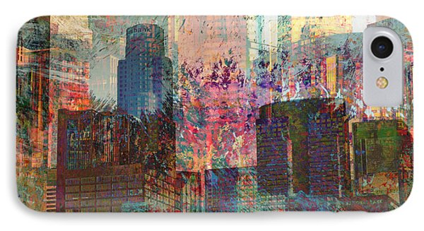 City Skyline Abstract Scene IPhone Case