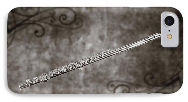 Classic Flute Music Instrument Photograph In Sepia 3306.01 IPhone Case
