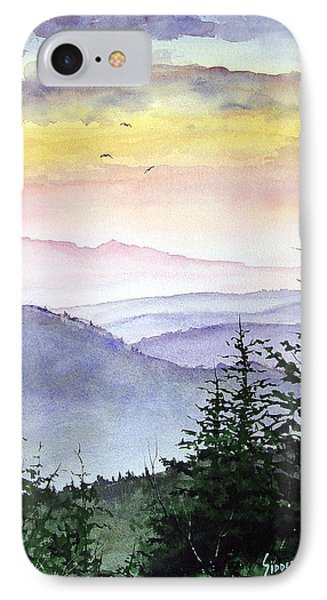 Mountain iPhone 8 Case - Clear Mountain Morning II by Sam Sidders