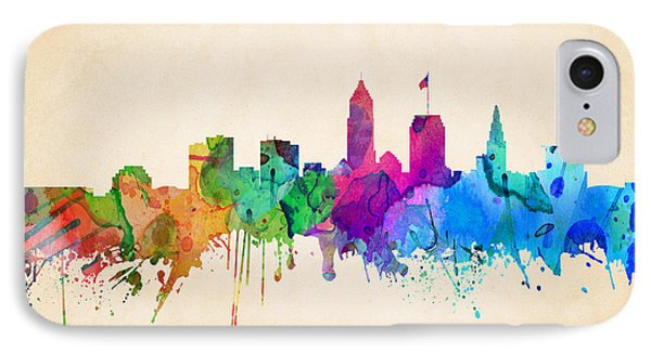 Cleveland Cityscape IPhone Case