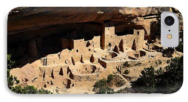 Cliff Palace At Mesa Verde National Park Anasazi Ruin Watercolor Digital Art IPhone Case