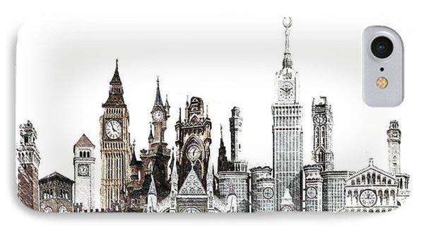 Clock City Sketch IPhone Case