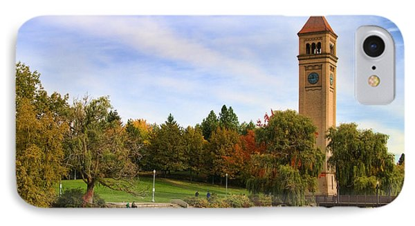 Clocktower And Autumn Colors IPhone Case