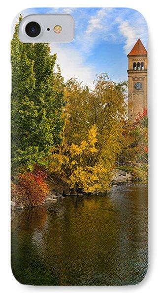 Clocktower In Fall IPhone Case