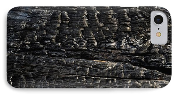 Close-up Of Charred Wood IPhone Case