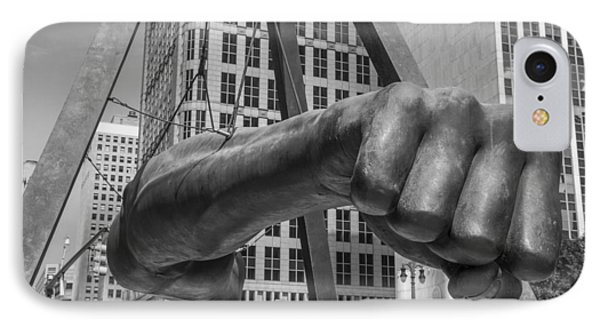Close Up Of Joe Louis Fist Black And White  IPhone Case