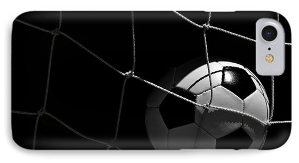 Closeup Of Soccer Ball In Goal IPhone Case