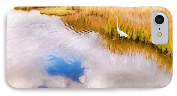 Cloud Reflection In Water Digital Art IPhone Case