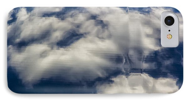 Clouds Reflections On Metallic Surface IPhone Case