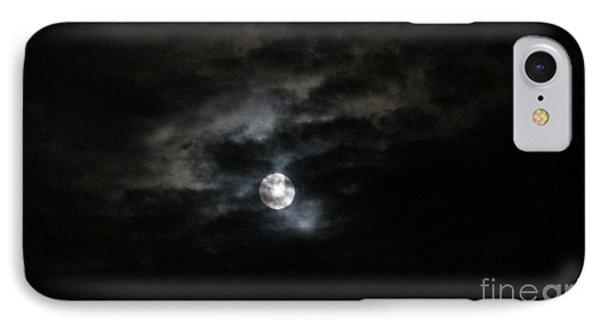 Night Time Cloudy Dark Moon IPhone Case