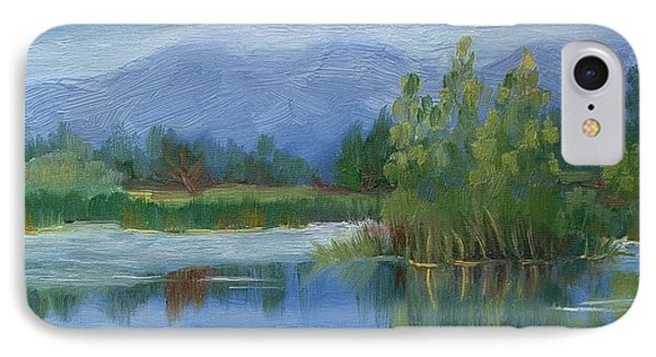 Cloudy Day At Walden Ponds IPhone Case