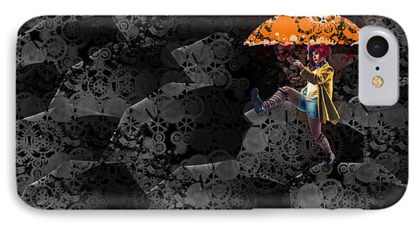 Clowning On Umbrellas 02 -a10a IPhone Case