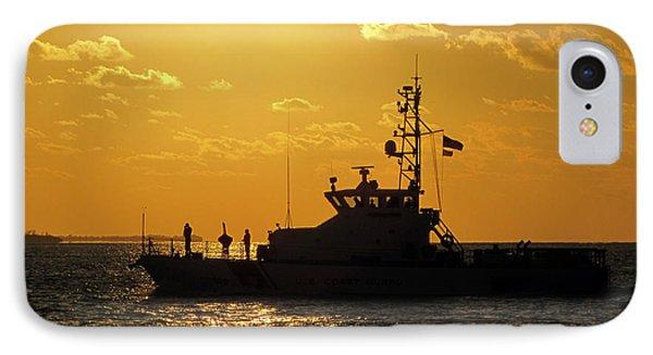 Coast Guard In Paradise - Key West IPhone Case