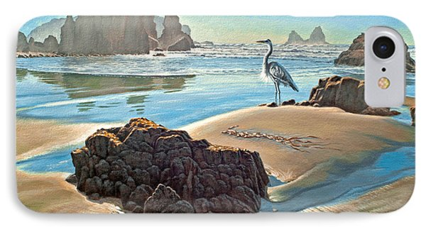 Coast With Great Blue Heron IPhone Case