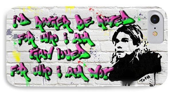 Cobain Graffiti IPhone Case