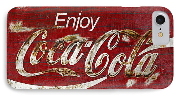 Coca Cola Wood Grunge Sign IPhone Case