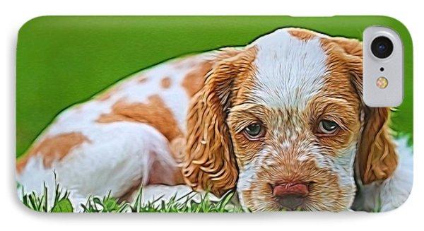 Cocker Spaniel Puppy In Grass IPhone Case