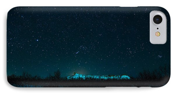 Cold Night On The Saddle Horn IPhone Case