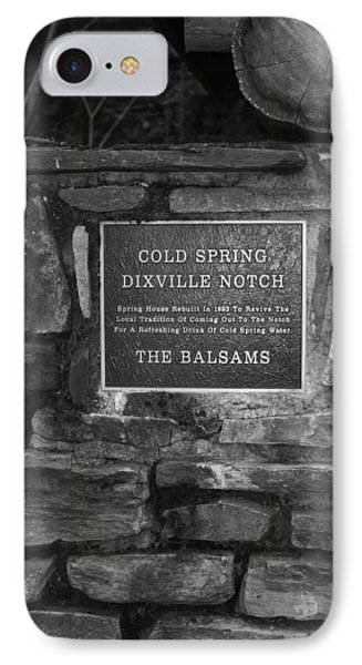 Cold Spring Of Dixville Notch Close-up IPhone Case