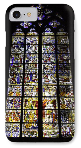 Cologne Cathedral Stained Glass Window Of St Peter And Tree Of Jesse IPhone Case
