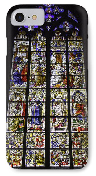 Cologne Cathedral Stained Glass Window Of The Three Holy Kings IPhone Case