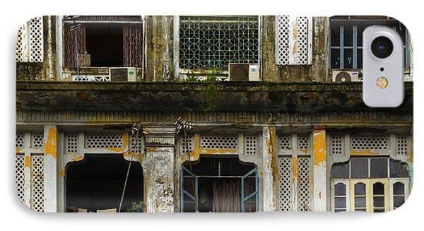 Colonial Facade Bo Soon Pat Street 8th Ward Central Yangon Burma IPhone Case
