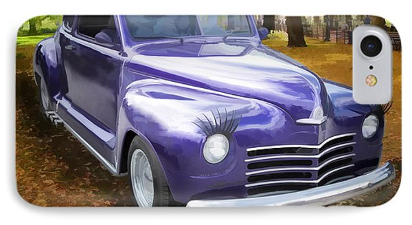 Color Painting Of A Complete 1948 Plymouth Classic Car 3389.02 IPhone Case