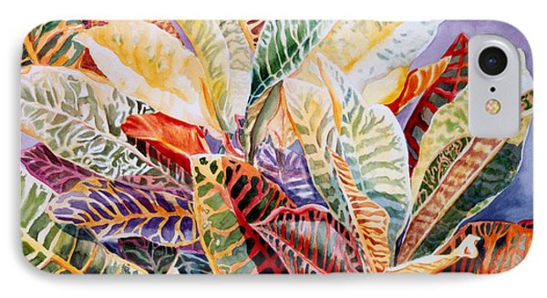 Color Patterns - Crotons IPhone Case