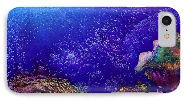 Colorful Abstract Art-vivid Fluid Painting Life Below By Kredart IPhone Case