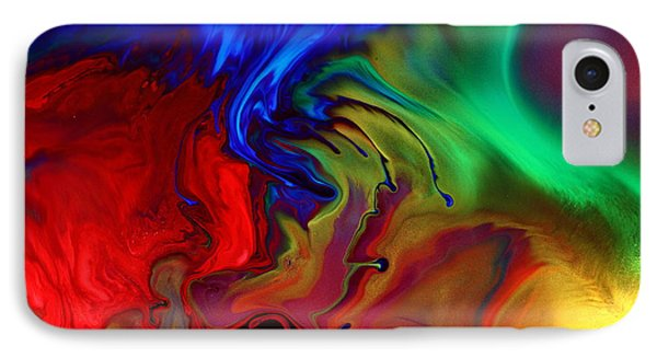 Colorful Contemporary Abstract Art Fusion  IPhone Case