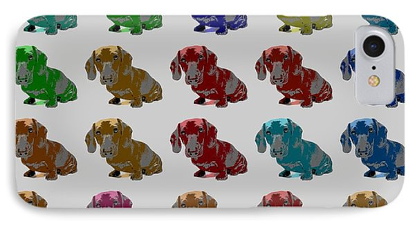 Colorful Dachshund Pop Art Poster IPhone Case