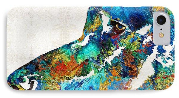 Colorful Dog Art - Loving Eyes - By Sharon Cummings  IPhone Case