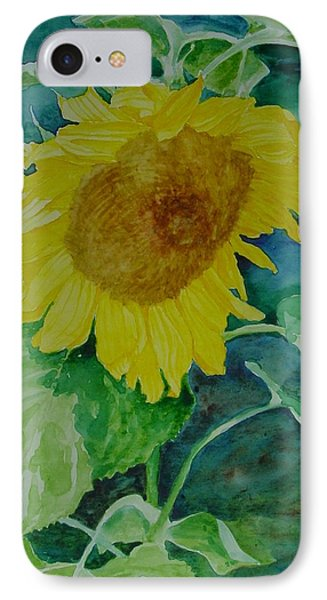 Colorful Original Watercolor Sunflower IPhone Case