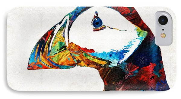 Colorful Puffin Art By Sharon Cummings IPhone Case