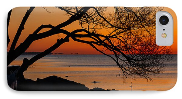 Colorful Quiet Sunrise On Lake Ontario In Toronto IPhone Case