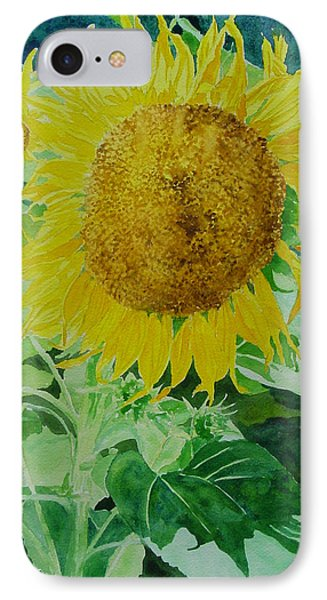 Colorful Sunflowers Watercolor Original Sunflower Art IPhone Case