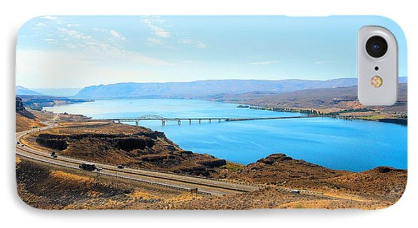 Columbia River From Overlook IPhone Case