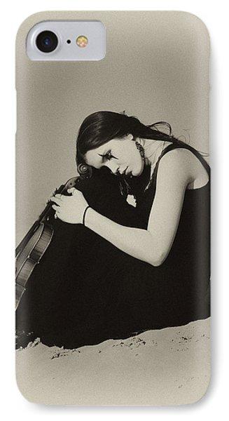 Violin iPhone 8 Case - Comfort In The Desert by Gun Legler