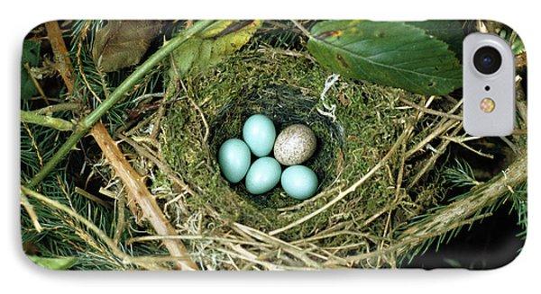 Common Cuckoo Cuculus Canorus Egg Laid IPhone Case