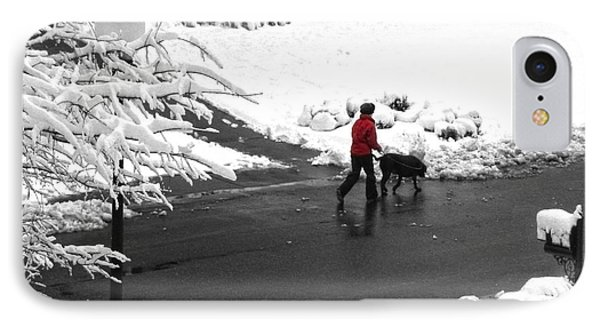 Companions Walking On Christmas Morning IPhone Case