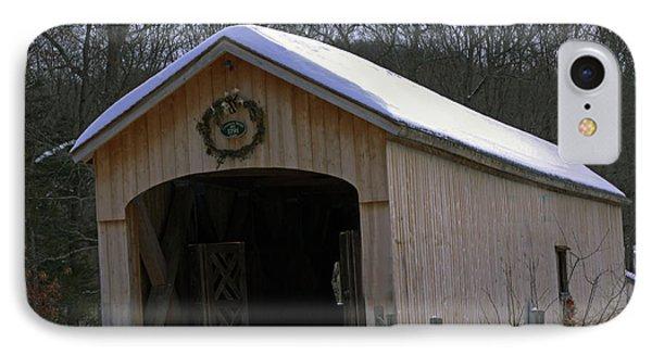 Comstock Covered Bridge Winter 2015 1 IPhone Case